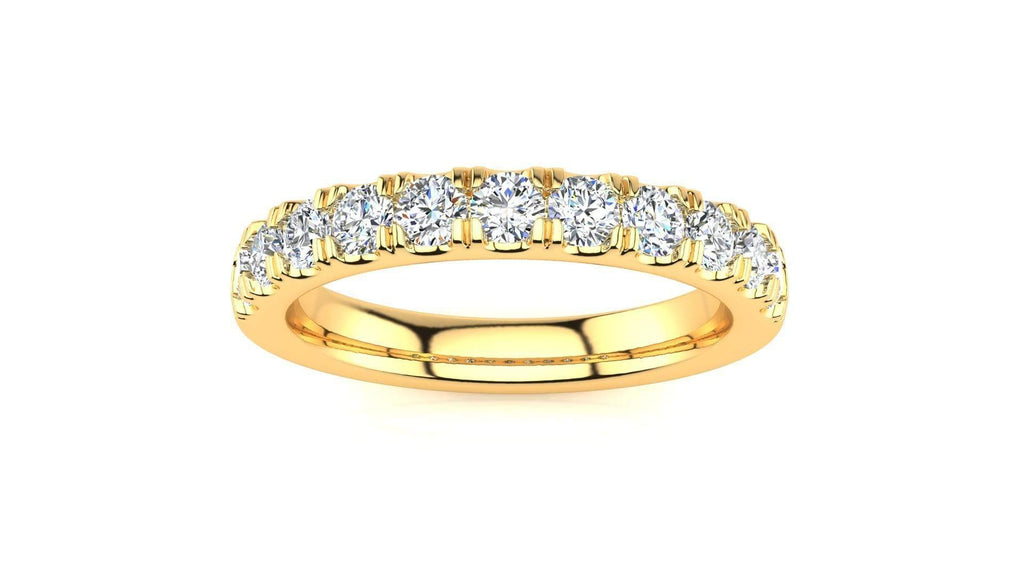 Ring 10K YELLOW GOLD MicropavŽ 5/8 Carat Diamond Wedding Band