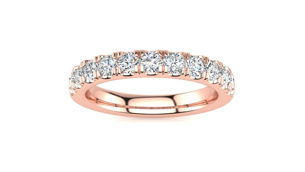 Ring 14K ROSE GOLD MicropavŽ 5/8 Carat Diamond Wedding Band