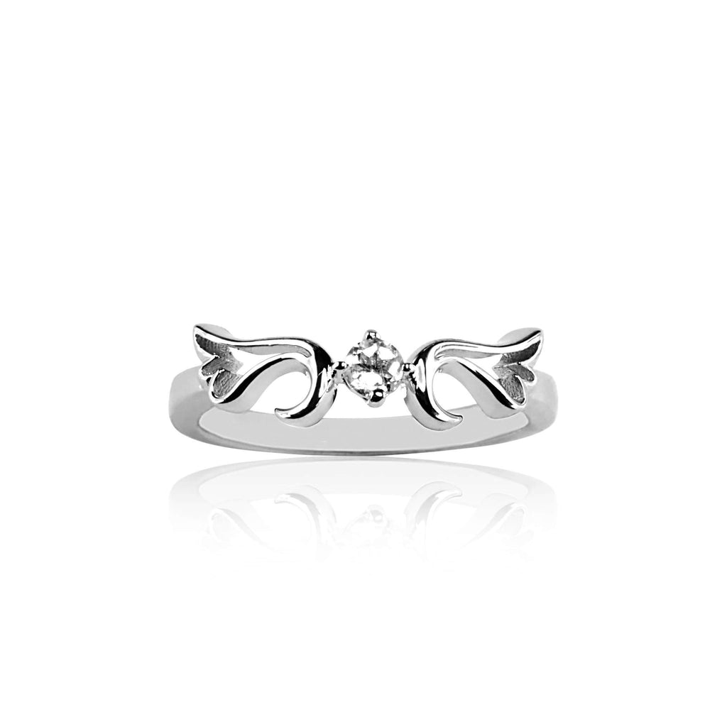 Ring Moonstone Guardian Angel Ring- April