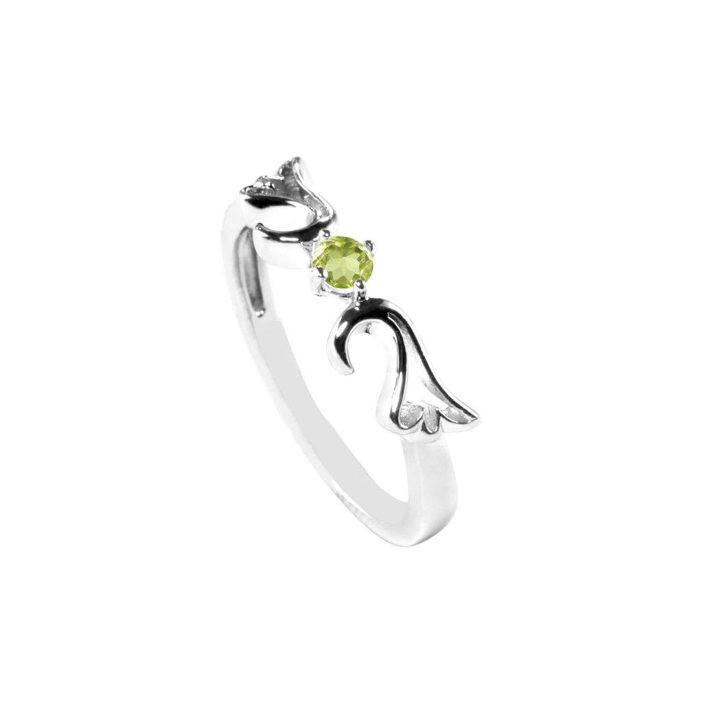 Ring Peridot Guardian Angel Ring- August