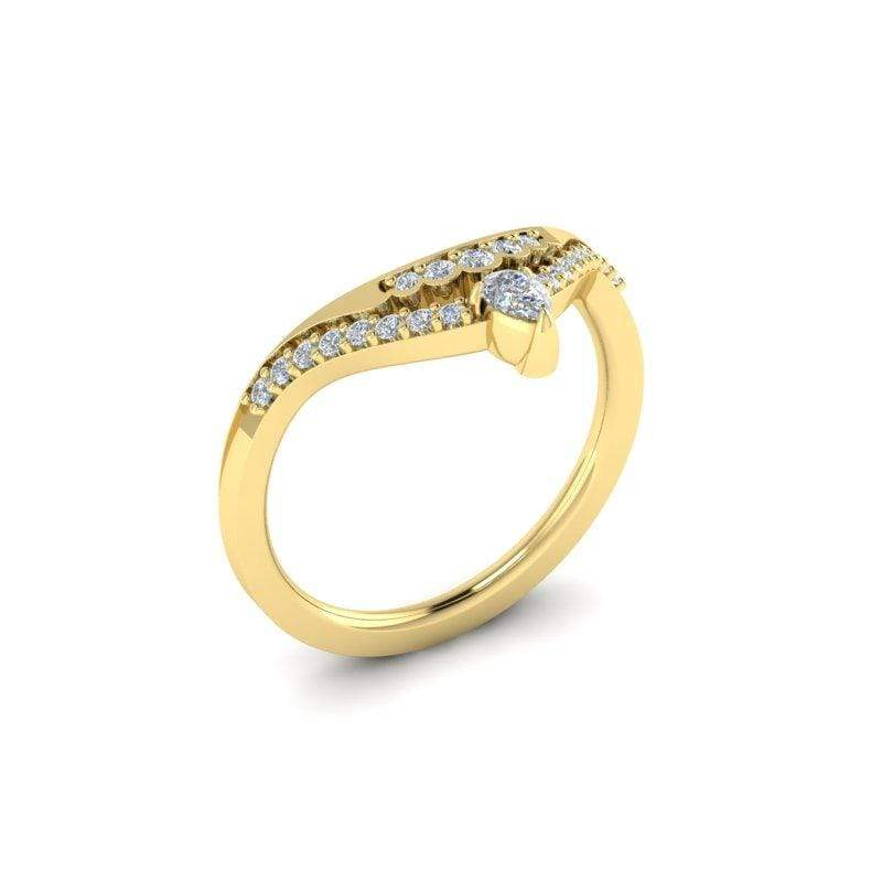 Ring Principessa Custom Contour Diamond Wedding Ring