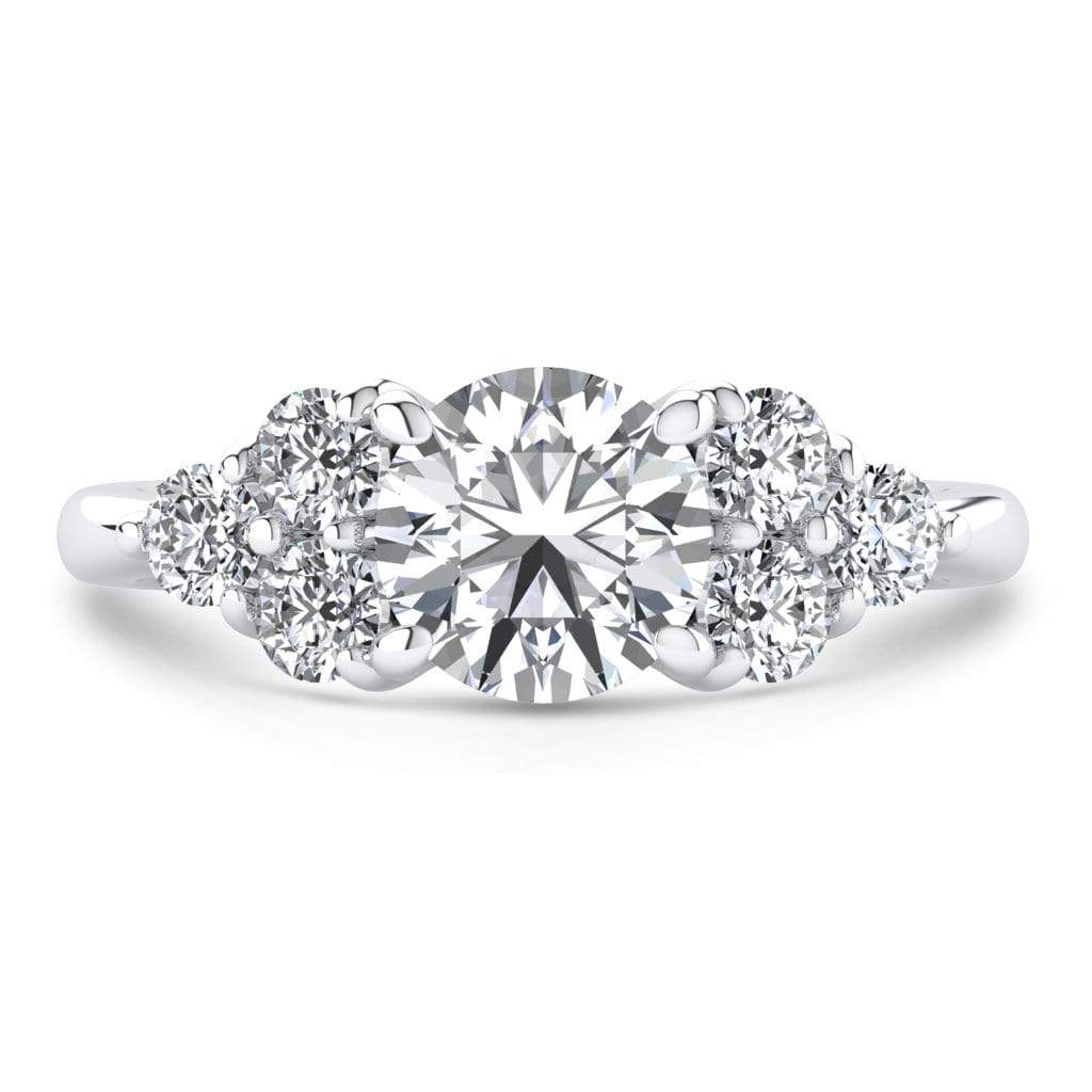 Ring 1.50 Carat / 14K White Gold Roxy | VS Lab Grown Diamond Engagement Ring