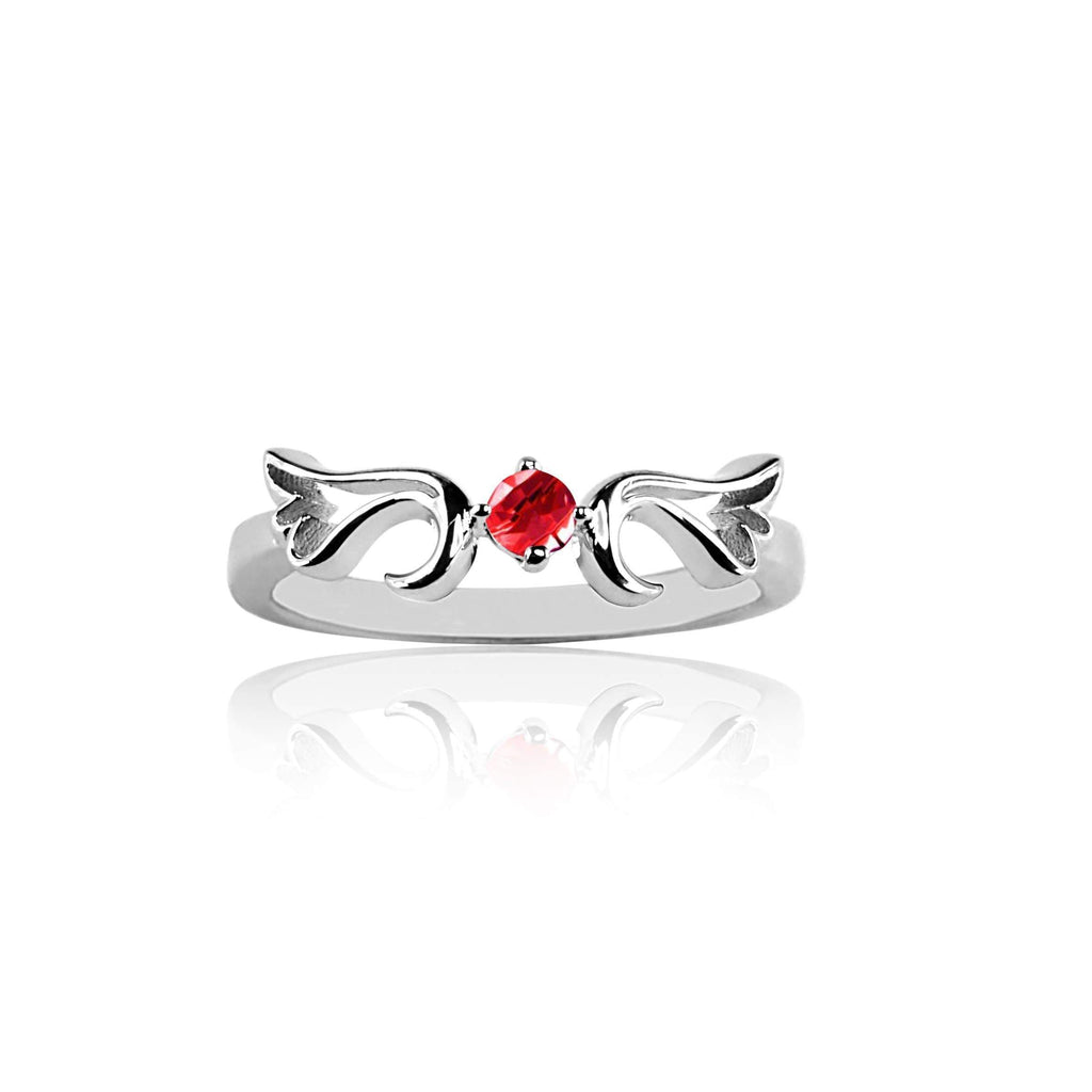 Ring Ruby Guardian Angel Ring- July
