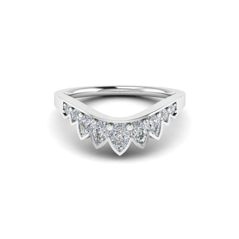 Ring Sansa Custom Contour Diamond Wedding Ring