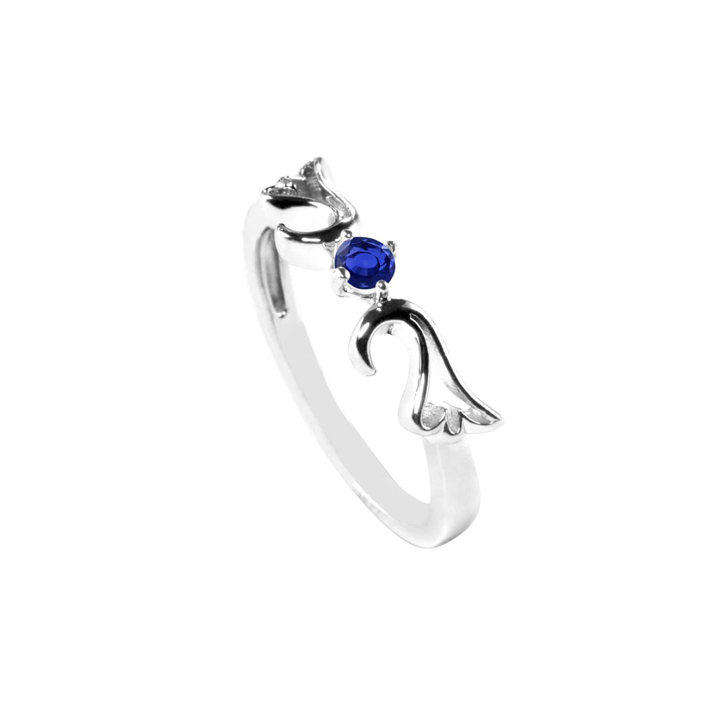 Ring Sapphire Guardian Angel Ring- September