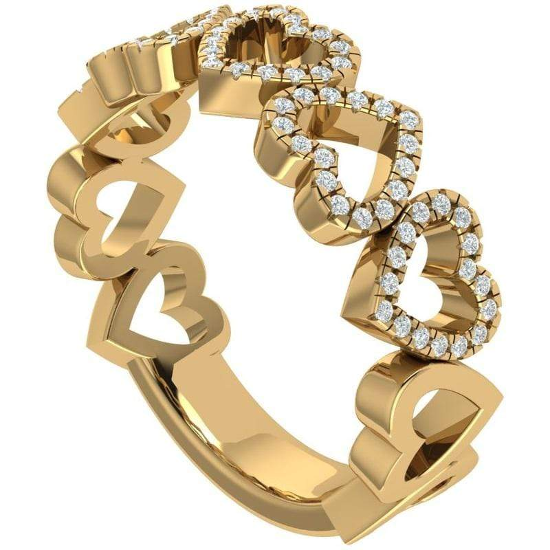 Ring The 14K Gold Story & Hearts Signature Stackable