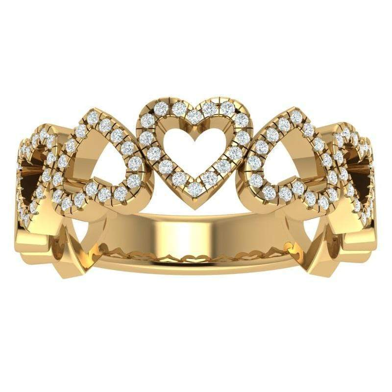 Ring 3.5 / 14K Yellow Gold The 14K Gold Story & Hearts Signature Stackable