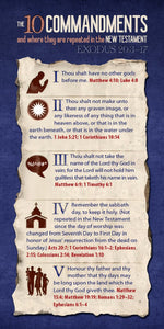 The 10 Commandments and Where They Are Repeated in the New Testament (Pack of 10) - Glad Tidings Publishing