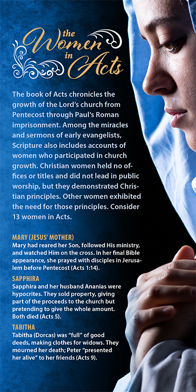 The Women in Acts (Pack of 10) Info-Cards or Oversize Bookmarks - Glad Tidings Publishing
