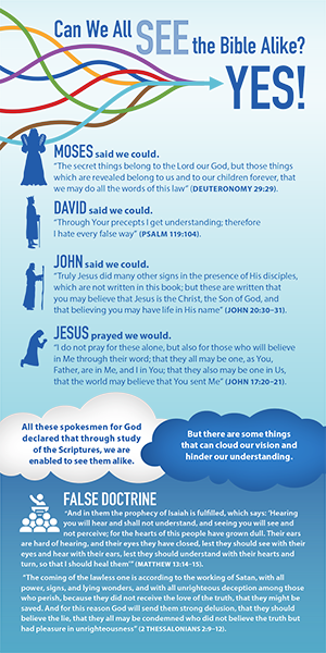 Can We All See the Bible Alike?  (Pack of 10) Info-Cards or Oversize Bookmarks - Glad Tidings Publishing