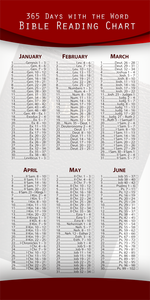 Annual Bible Reading Chart (Pack of 10) - Glad Tidings Publishing