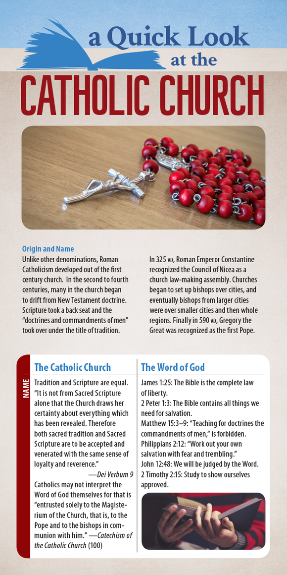 A Quick Look at the Catholic Church (Pack of 10) - Glad Tidings Publishing