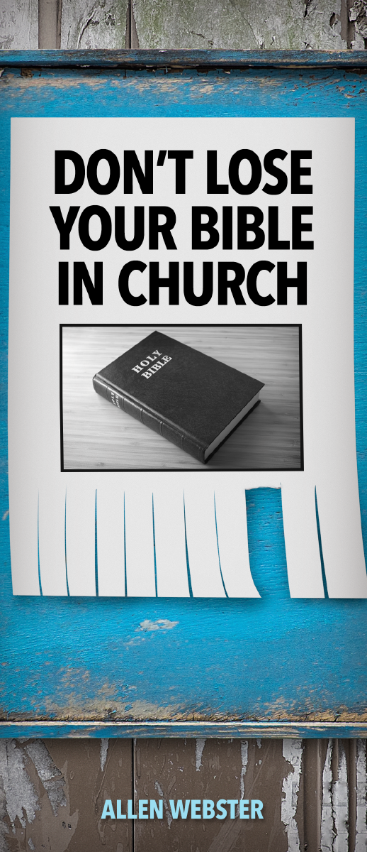 Don't Lose Your Bible in Church (Pack of 10) - Glad Tidings Publishing