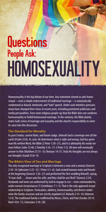 Questions People Ask: Homosexuality (Pack of 10) - Glad Tidings Publishing
