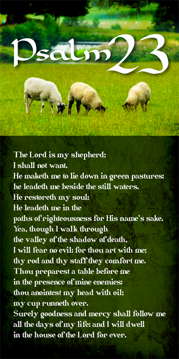 Psalm 23 (Pack of 10) - Glad Tidings Publishing