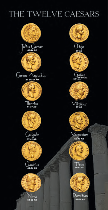 The Twelve Caesars (Pack of 10)