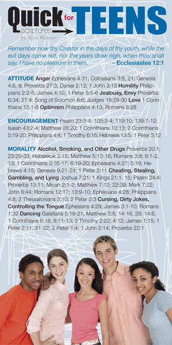 Quick Scriptures for Teens (Pack of 10) - Glad Tidings Publishing