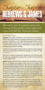 Chapter to Chapter - Hebrews & James (Pack of 10) Info-Cards or Oversize Bookmarks - Glad Tidings Publishing