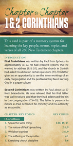 Chapter to Chapter - 1 and 2 Corinthians (Pack of 10) Info-Cards or Oversize Bookmarks - Glad Tidings Publishing