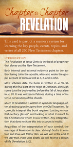 Chapter to Chapter - Revelation (Pack of 10) Info-Cards or Oversize Bookmarks - Glad Tidings Publishing