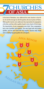 Seven (7) Churches of Asia  (Pack of 10) Info-Cards or Oversize Bookmarks - Glad Tidings Publishing