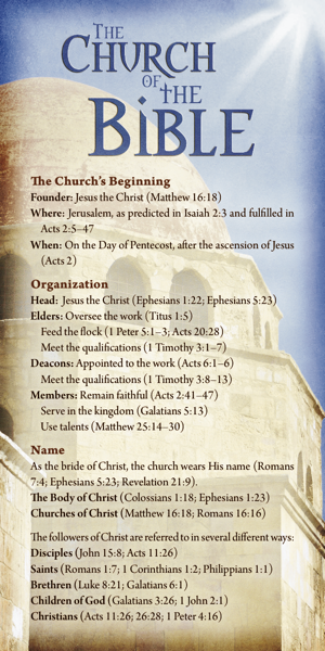 The Church of the Bible (Pack of 10) - Glad Tidings Publishing