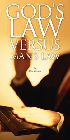 God's Law Versus Man's Law (Pack of 5)