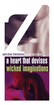 Seven Things a Loving God Hates: A Heart that Devises Wicked Imaginations (Pack of 5) - Glad Tidings Publishing