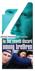 Seven Things a Loving God Hates: He that Soweth Discord Among Brethren (Pack of 5) - Glad Tidings Publishing