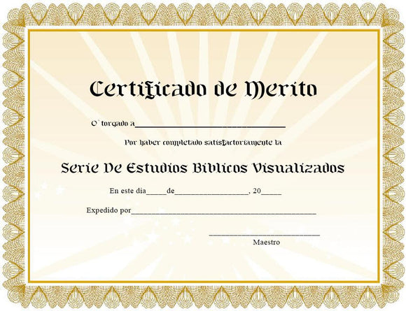VBSS Spanish Completion Certificates (Pack of 10) 507C - Glad Tidings Publishing