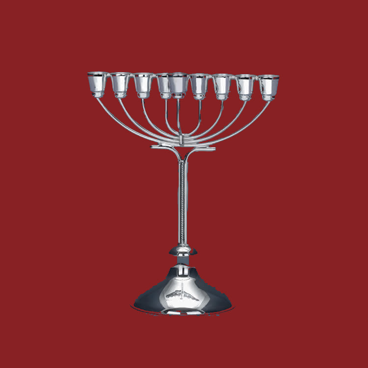 BAREKET SILVER MENORAH - MINI
