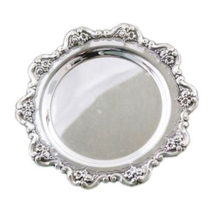 Flower Wreath Sterling Silver Liquor Tray