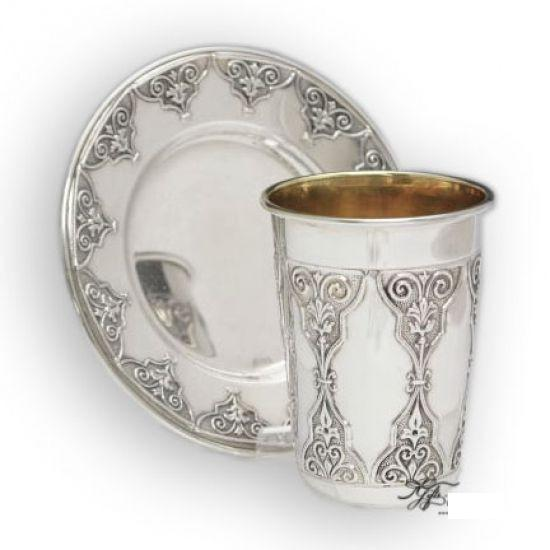 Chalonos Sterling Kiddush Set