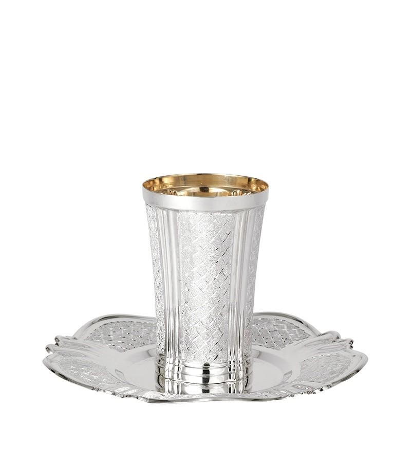 Vitraz Diamond Engraved Sterling Kiddush Set