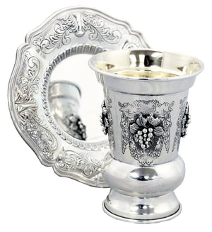 Rivers Cup Sterling Kiddush Set