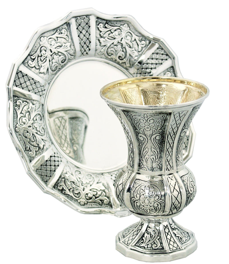Italia Chased Sterling Kiddush Set 270