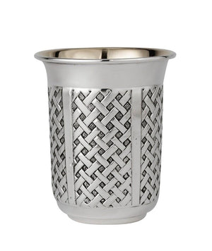 Barrel Yeshayahu Weave Sterling Cup