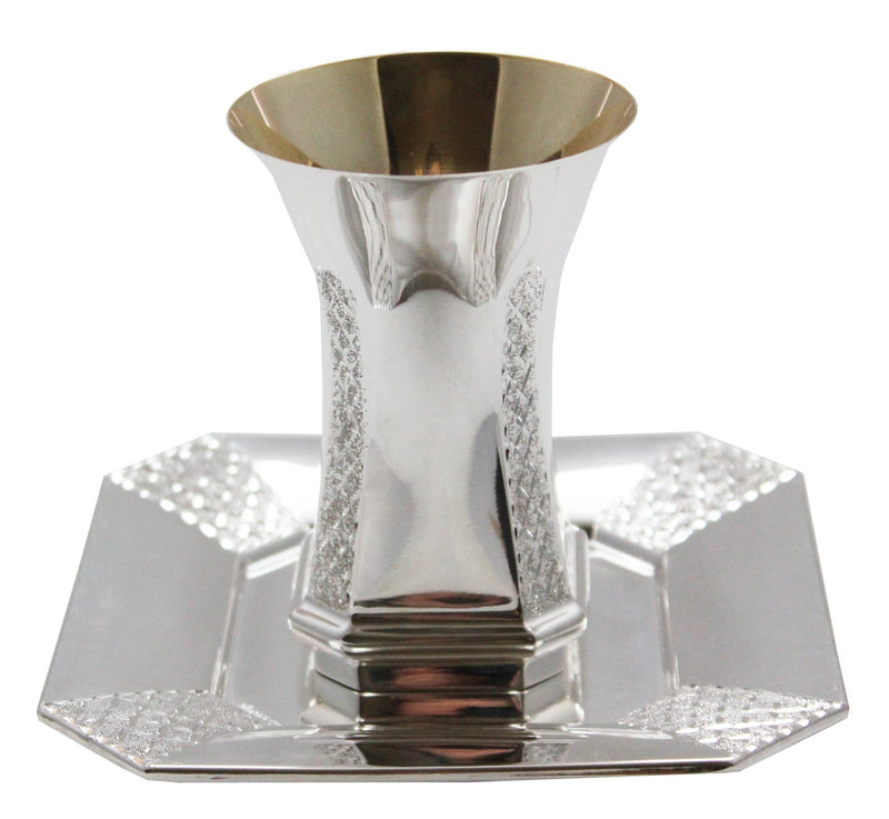 Venus Sterling Diamond Engraved Pinot Kiddush Set