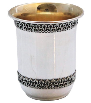 Filigree Barrel Sterling Cup