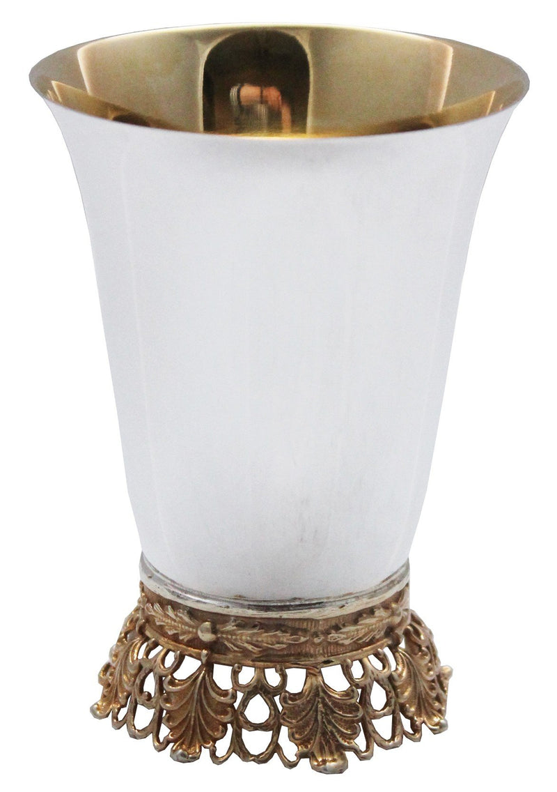 David Malchusi Sterling Cup with Elaborate Gold-Plated Base