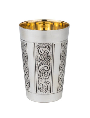 Medallion Belz Sterling Kiddush Cup