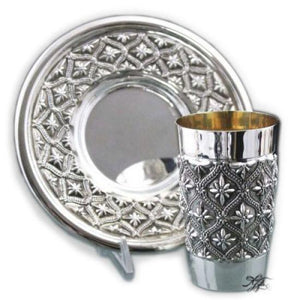 Heavy Parsi Sterling Kiddush Set
