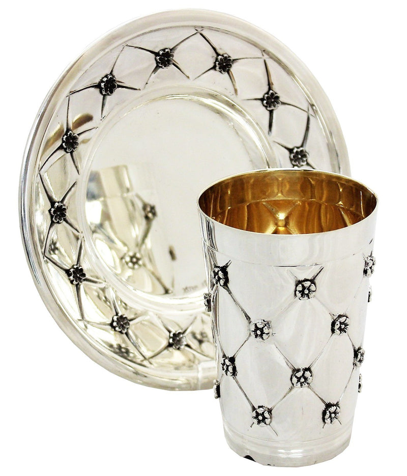 Heavy XP Sterling Kiddush Set