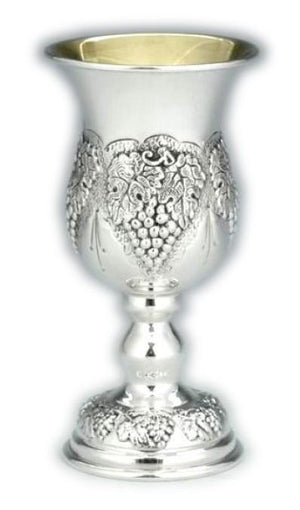 "Shmulik 4.5"" Grapes Sterling Goblet"