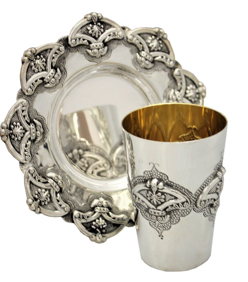 Meshulash Sterling Kiddush Set