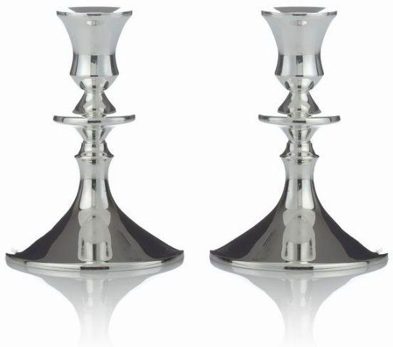 "Orbital 5"" Sterling Candlesticks"