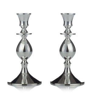 "Orbital 7.5"" Sterling Candlesticks"