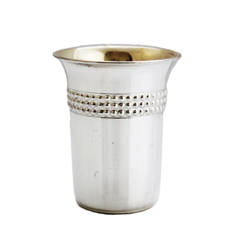 Beaded Chazon Ish Sterling Cup
