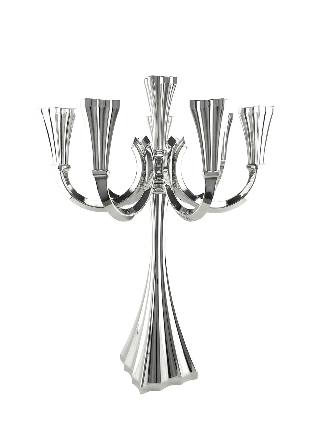 "Galil Smooth 5-Light Sterling 17.5"" Candelabra"
