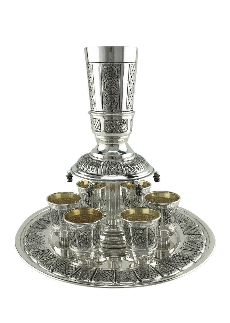 Madlen 8-cup Sterling Wine Fountain